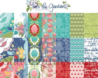 Into the Garden Fat Quarter Bundle by Amanda Herring (The Quilted Fish) for Riley Blake Designs