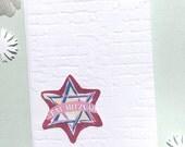Bat Mitzvah Card - Mazol Tov Card - Bat Mitzvah Gift - Judaica - Western Wall - Kotel - Handmade Paper Greeting Card - Blank Note Card
