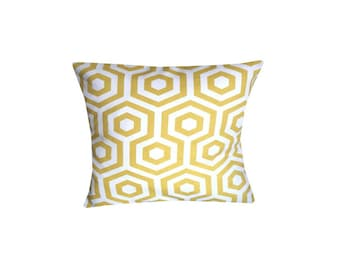 Designer retro Mustard Yellow geometric scandinavian luxury new pattern funky cushion cover