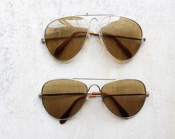 Vintage Merit Sunglasses, Navigator Sunglasses 1970's, Cigarette Promo, Classic Eye Frames, Hipster Eyewear, Reflective Glasses WTH-1517/18
