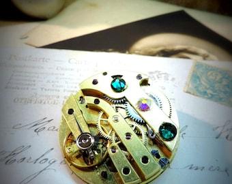 steampunk brooch purist, mechanism
