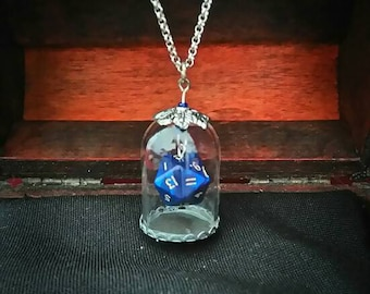 Trapped Luck D20 Blue