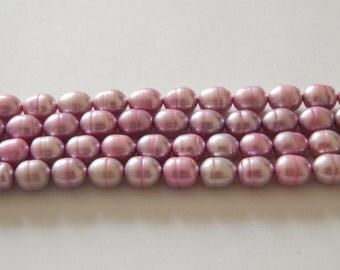 8mm FW Pearls Rice Grape