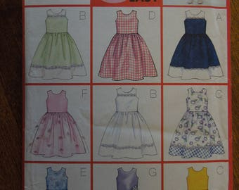 Girl's dress, sizes vary , UNCUT sewing pattern, craft supplies, Butterick 6958