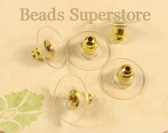 SALE 11 mm x 7 mm Gold-Plated Brass Ear Wire Guard - 20 pcs