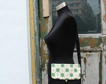 Mosaic Tiles Bag,grid bag, lattice bag, black bag, canvas bag,shoulder bag