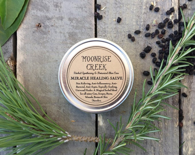 Miracle Healing Salve • First Aid • Pain Relieving, Anti-Inflammatory, Anti-Bacterial, Anti-Septic, Topically Soothing,