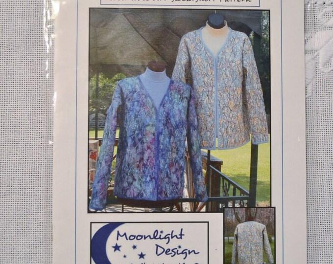 Texture With a Twist Wearable Art Sweatshirt Pattern Moonlight Design Quilts PanchosPorch