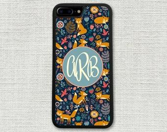 iPhone 7 Case, Fox Woods Forest, iPhone 7 Case, Monogram iPhone Case 1203