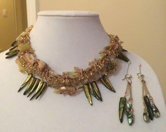 BeadsRising Egyptian inspired necklace