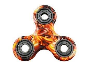 Fire Pattern Fidget Spinner Hand Spinner ADHD Anxiety Stress Relieving Desk Toy for Kids Adults #06