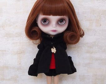 Blythe dress/Netsuke dress02/cotton/wool/kimono fabric/by T-kuma66.