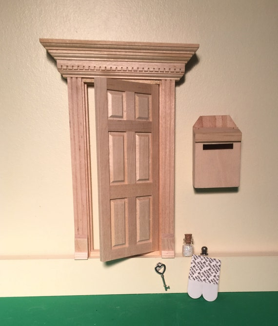 Unfinished fairy door with key and fairy dust fairy doors for Fairy door with key