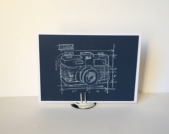 Camera Blueprint, card for any occasion