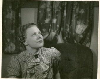 Vintage Photo..Looking Upward, 1930's Original Found Photo, Vernacular Photography