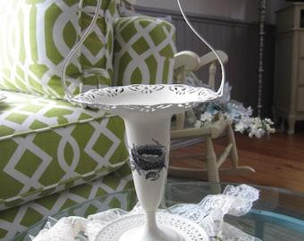 Chalk Painted Vase - Painted Silver Vase