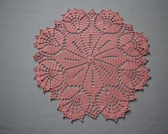 crochet doily vintage style round doily lace doilies crochet centerpiece table decoration wedding gift pink