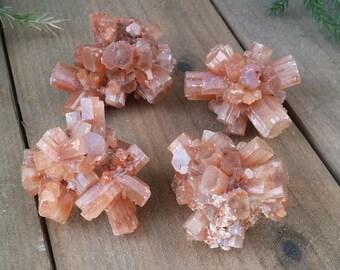 ONE Aragonite Crystal Cluster | Sputnik Aragonite Cluster | Aragonite Healing Stones | Healing Crystals | Crystal Specimen 1088