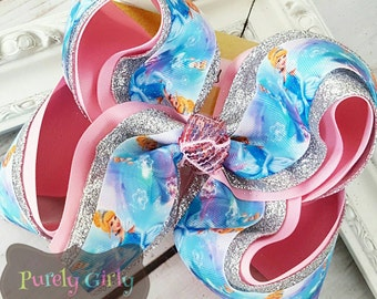 Cinderella Hairbow Princess Bow Large Cinderella Exlarge Hair Bow