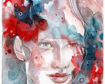Changes, ORIGINAL watercolor painting