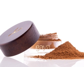 Mineral Foundation (MF6 Shade) Vegan Makeup Powder, Unique 4 IN 1, 100% Natural Multipurpose Full Coverage For All Skin Types