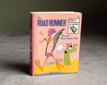 Vintage Whitman A Big Little Book # 5767 The Road Runner Flip It Cartoons From 1974