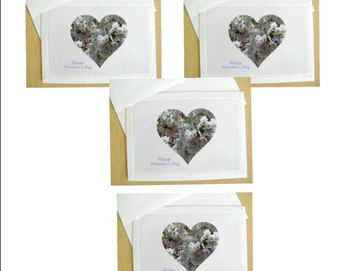 VALENTINE Photo Card Set created by Pam'sFabPhotos, Handcrafted on Embossed Card Stock with Coordinating Envelopes