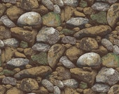 Landscape fabric, River Rock Fabric - Lighthouse Wonders by Lennie Honcoop Blank quilting, 8315 35 - priced by the 1/2 yard