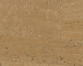 Natural Cork Fabric, Cork Leather, Stitchable Cork, Vegan Leather Alternative - Touch Pro Natural cork - 18 Inch Width, Variable Length