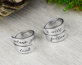 Where You Lead I Will Follow Ring Set
