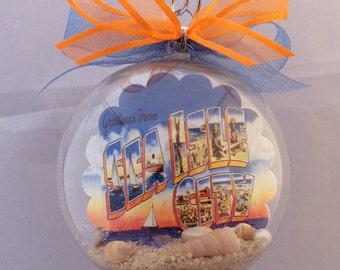 Sea Isle City New Jersey Shore Vintage Postcard Christmas Ornament - Unique Gift!