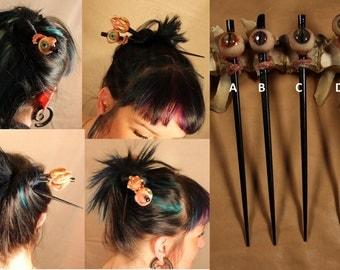 Realistic Eyeball Hair Chopstick - 1 Chopstick