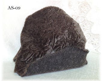 Italian SYNTHETIC fur plush fabric AS-09 Taupe colour soft dense EMBOSSED pile 6 mm teddy bear making supplies