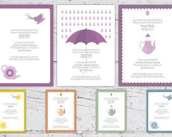 Tea Party Themed Bridal Shower Invitation    5x7   Download Printable   Bridal Shower Invitation   Feminine Shower Tea Party Themed Custom