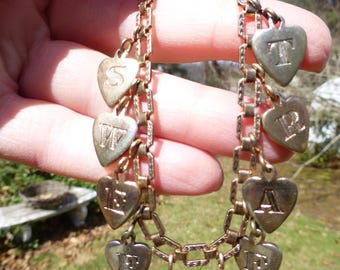 Charming Antique Edwardian Rose Gold Filled SWEETHEART Bracelet, Circa 1900s, So Romantic, Must See!