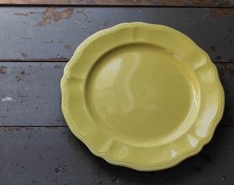 Ironstone Platter / Large Butter Yellow Federalist Ironstone Platter / 1970's Ironstone / Vintage Farmhouse Federalist Ironstone Platter