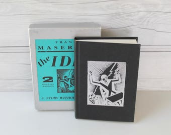 Vintage Frans Masereel - The Idea and Story Without Words, Novels Told in Woodcuts, Vintage Wordless Book, Vintage Woodcut Art