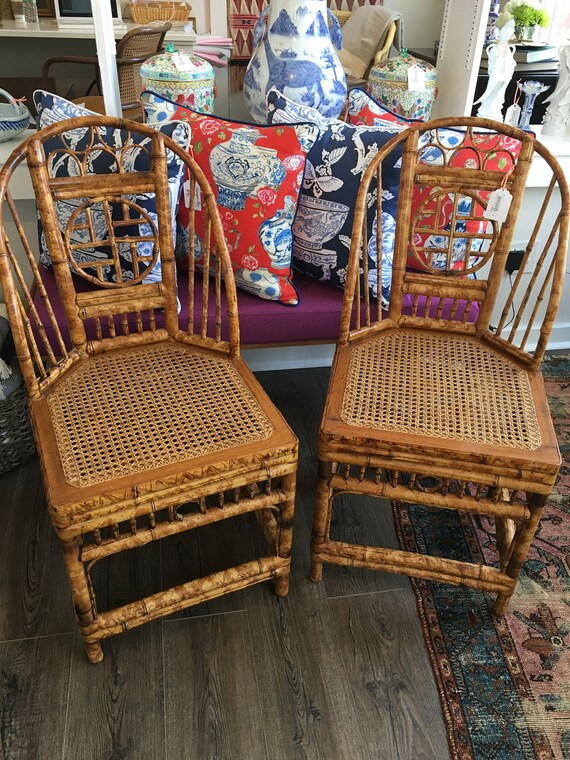 Like this item? - Vintage Bamboo Chairs Chinoiserie Chairs Brighton Style
