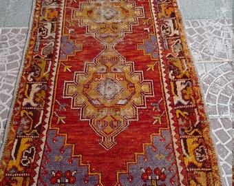 VİNTAGE Turkish OUSHAK RUG    114x33