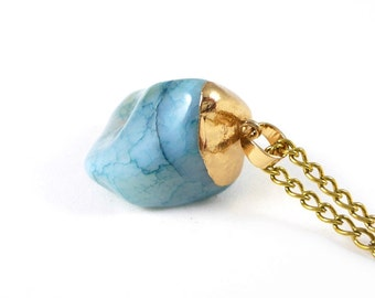 Natural stone chain