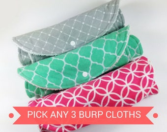 Baby Burp Cloths New Baby Gift Newborn Baby Gift Burp Clothes Baby Burp Rags Girl Burp Cloths Boy Burp Cloths