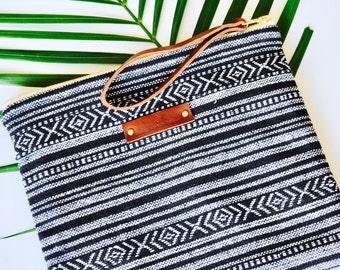 Fabric Clutch - Clutch Purse - makeup bag - Hand woven fabric - Christmas Gift Idea - handmade in Australia