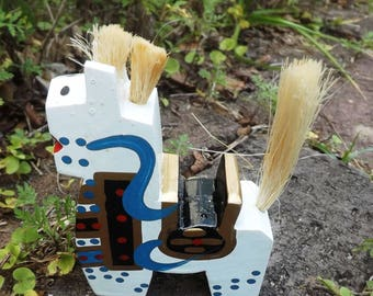 JapanWooden Gift Horse - Handpainted And Carved