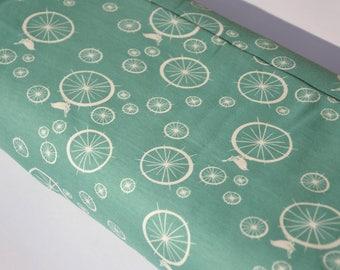 Birch   Pattern bird organic Jersey interlock - birdie spokes pool mint green white