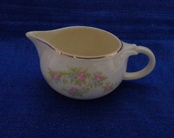 Vintage Taylor Smith And Taylor Scallop Creamer # 1697, Vintage Rose Creamer