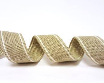 KRCA 34mm Stoney 2-Stripe Cotton Blend Heavy Weight Webbing  1 Metre