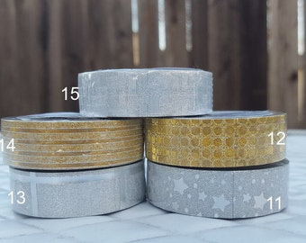 "Any Selection of Glitter Washi Tape (Let us know the style numbers in order under ""Notes"")"