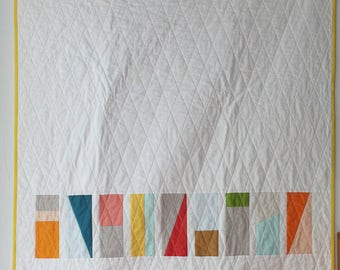 Modern Geometric Quilt Pattern--PDF--beginner