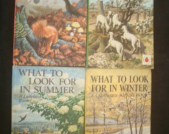 What To Look For,  Complete 4 Volume Ladybird Nature Set,