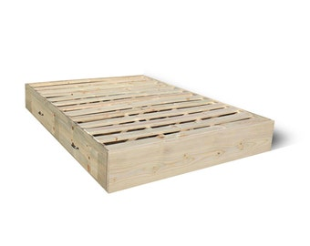 platform bed frame with drawers storage bed frame bed with storage captains bed - Wood Bed Frame With Drawers